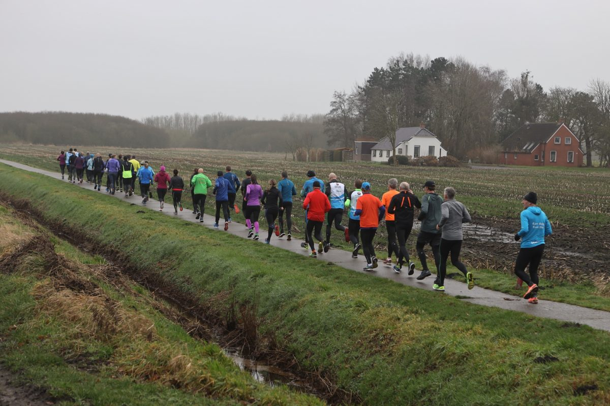 Runploug, trainingsloop 25 januari